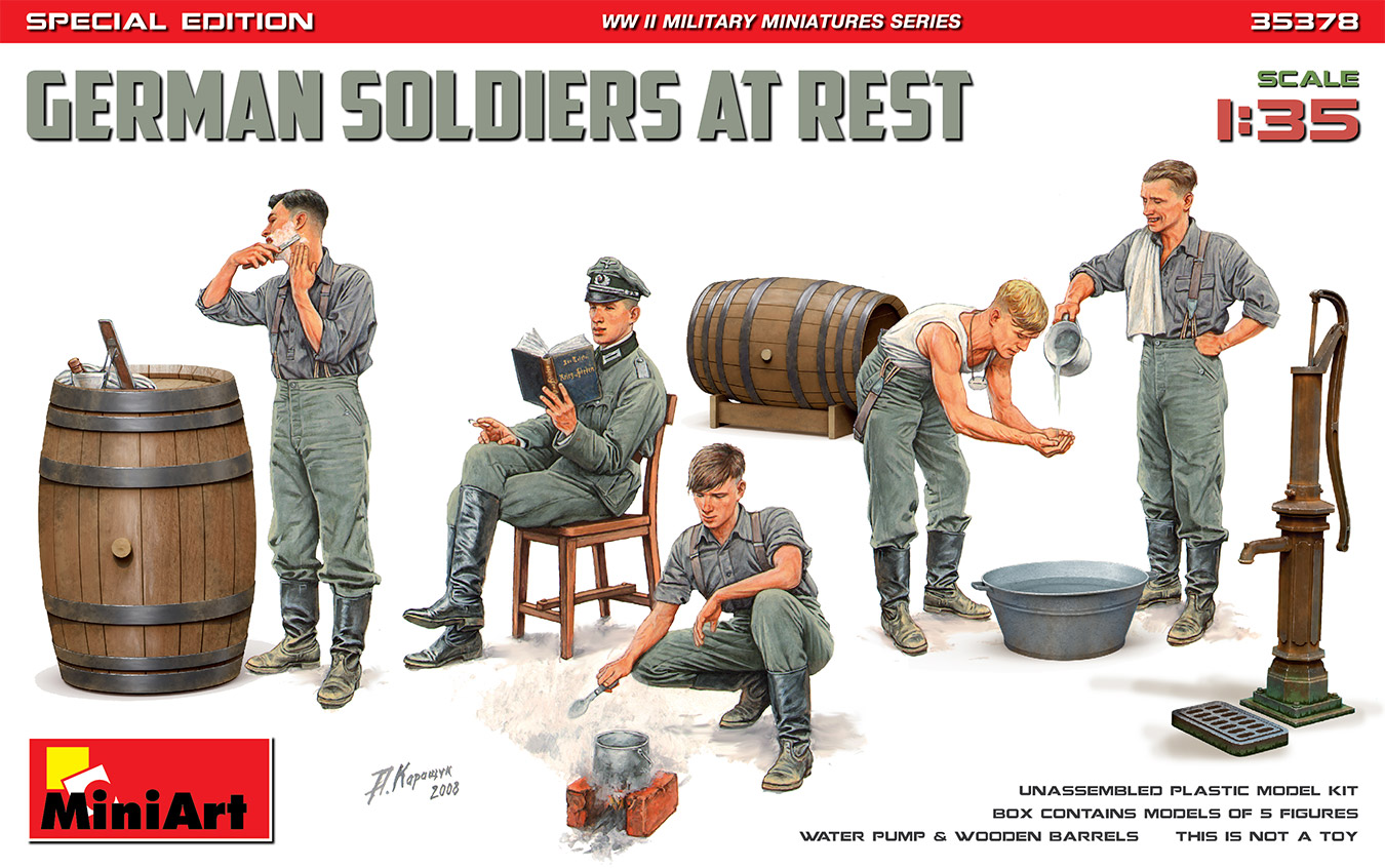MiniArt 1/35 German Soldiers At Rest. Special Edition
