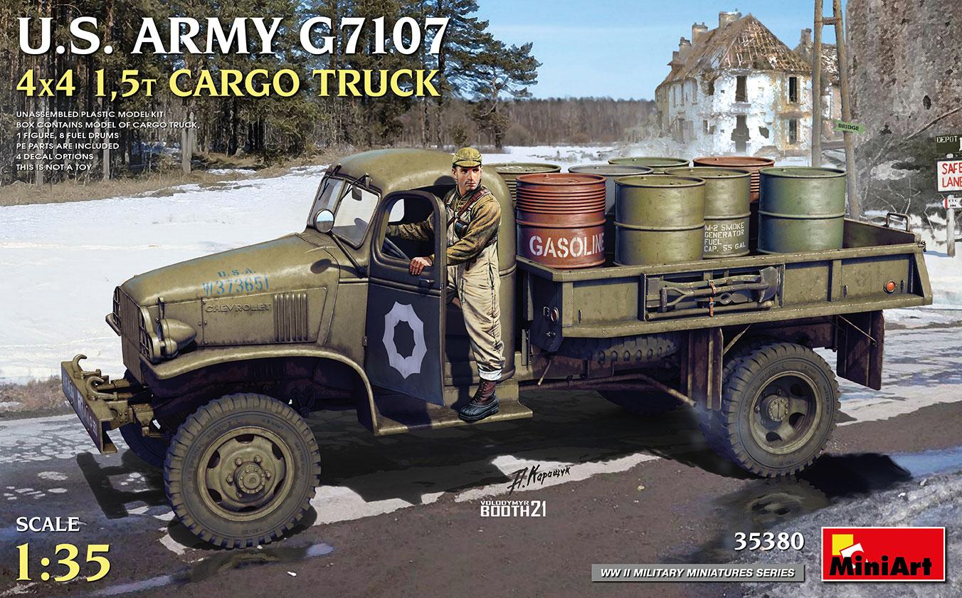 MiniArt 1/35 U.S. Army G7107 4X4 1,5t Cargo Truck