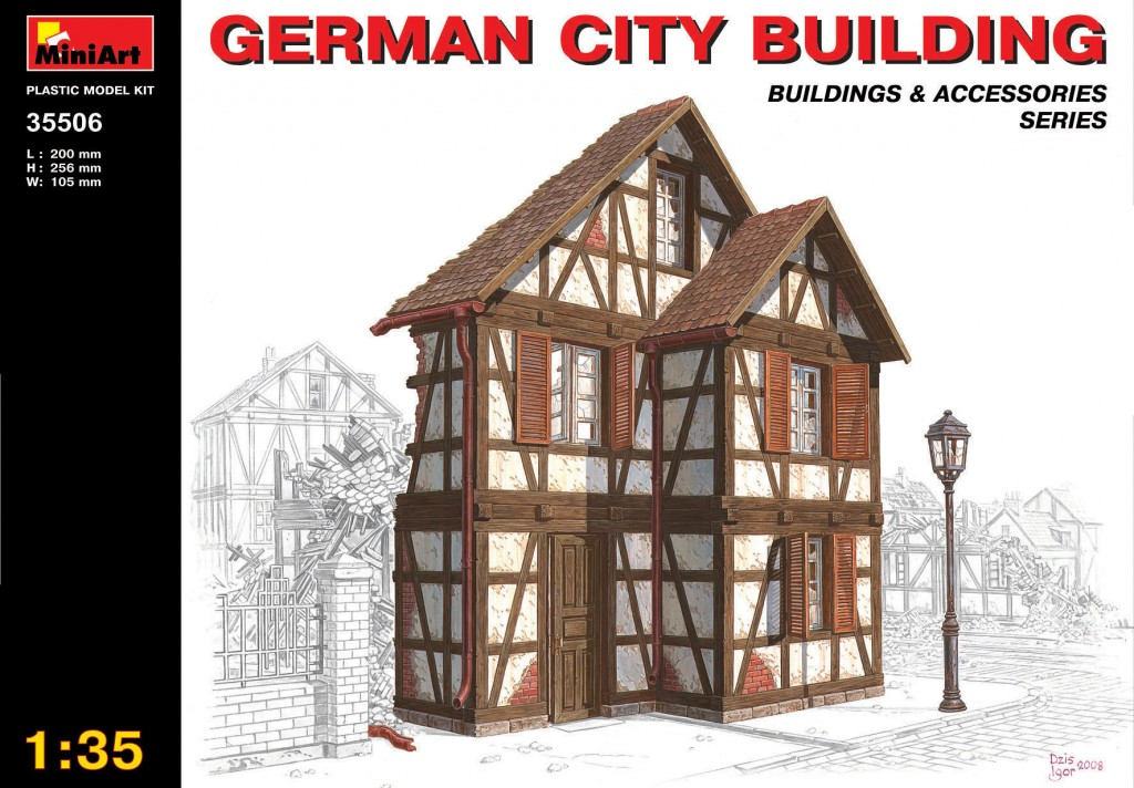 MiniArt German City Building (1/35)