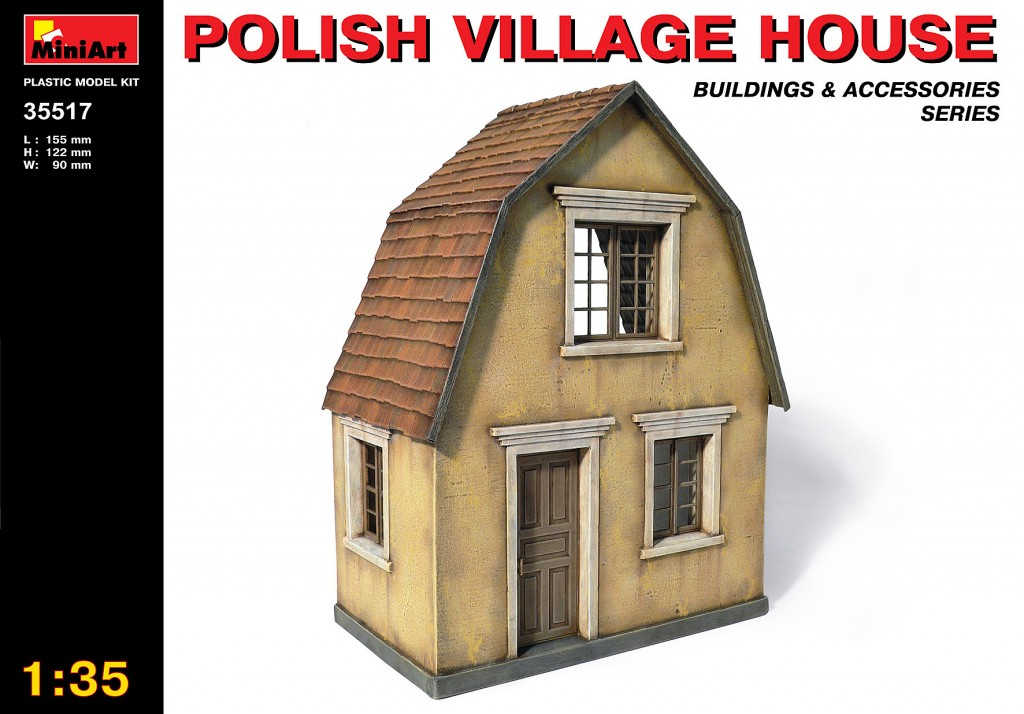 MiniArt Polish Village House (1/35)