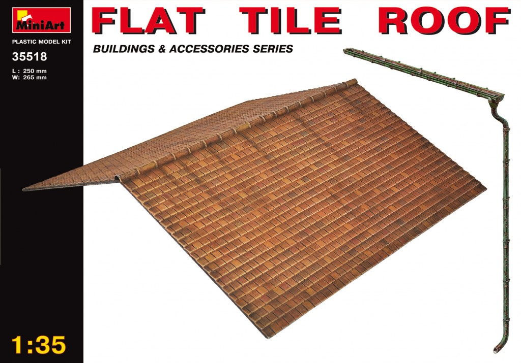 MiniArt Flat Tile Roof (1/35)