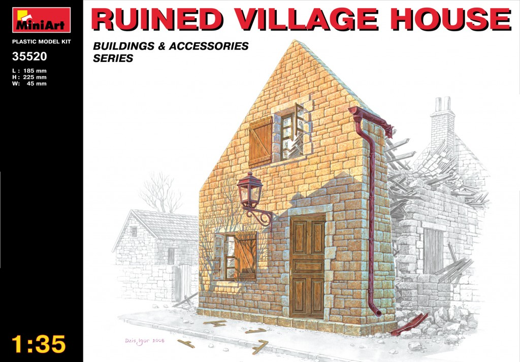 MiniArt Ruined Village House (1/35)