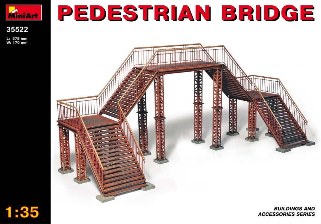 MiniArt Pedestrian Bridge (1/35)