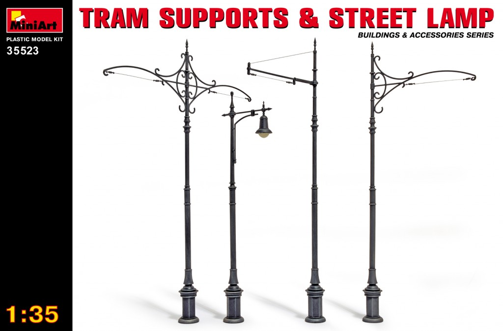 MiniArt Tram Supports and Street Lamps (1/35)