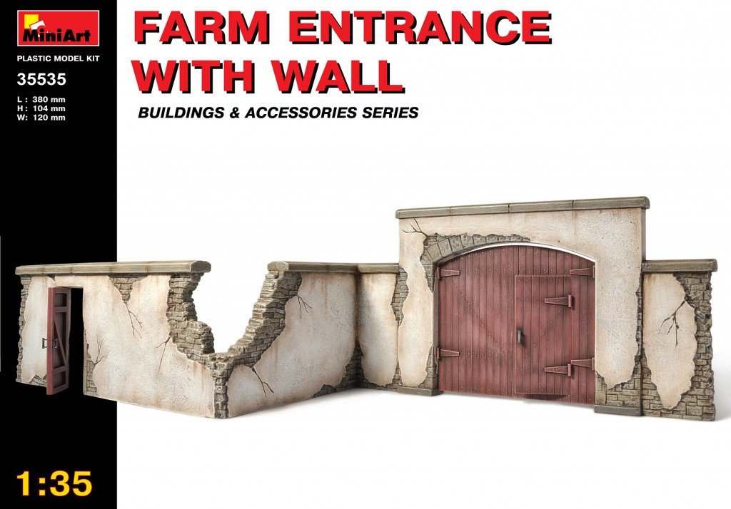 MiniArt Farm Entrance with Wall (1/35)