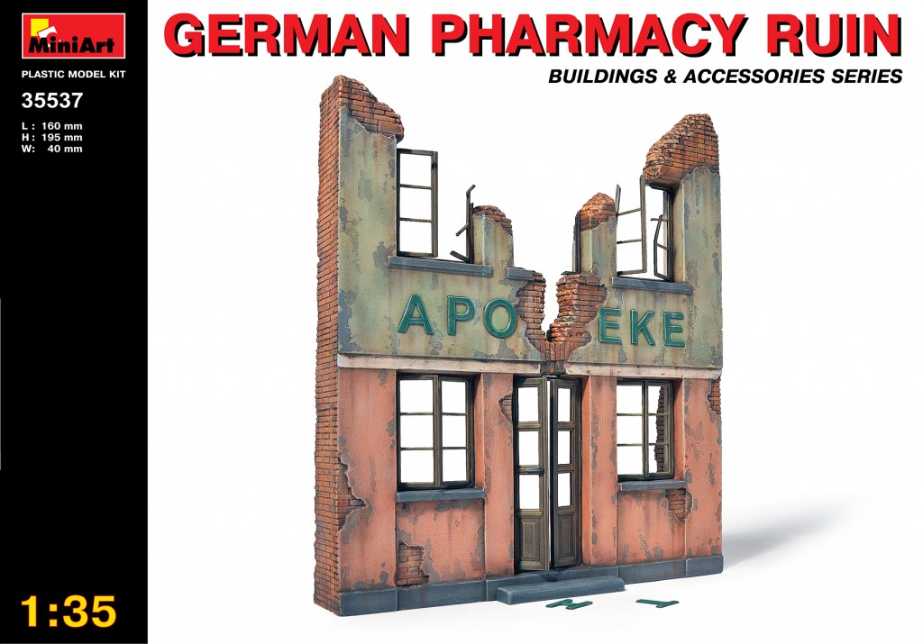 MiniArt German Pharmacy Ruin (1/35)