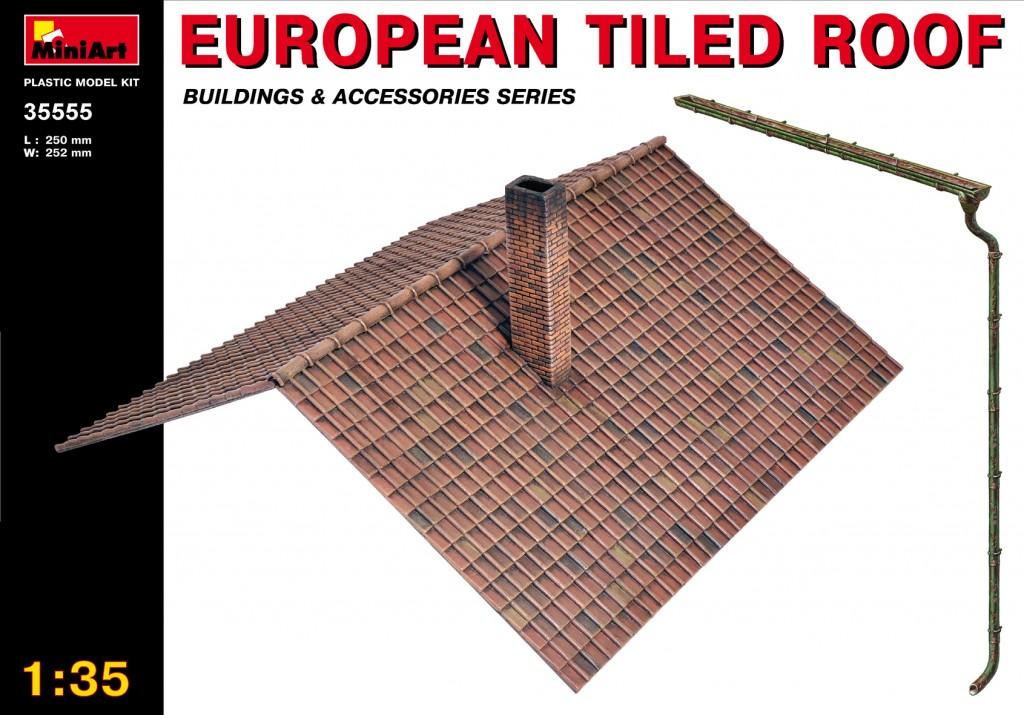 MiniArt European Tiled Roof (1/35)