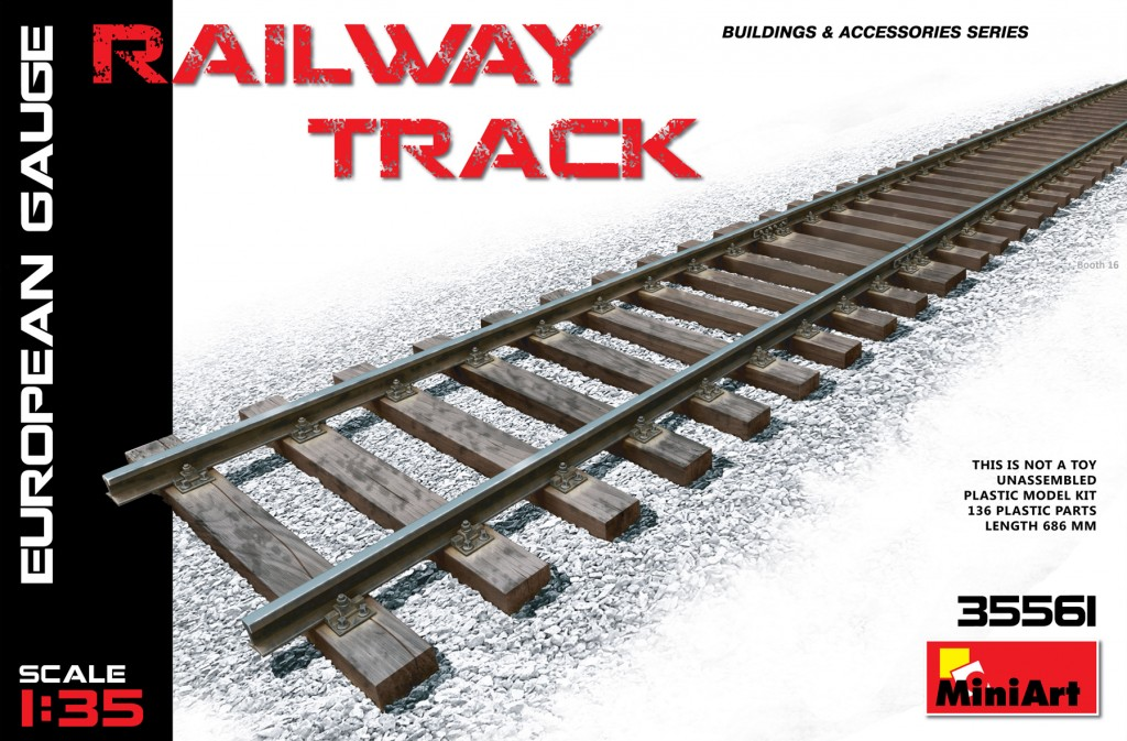 MiniArt Railway Track (European Gauge) (1/35)