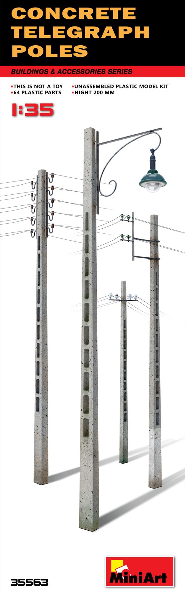 MiniArt 1/35 Concrete Telegraph Poles