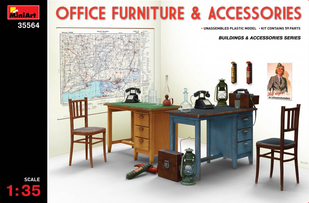 MiniArt Office Furniture & Accessories (1/35)