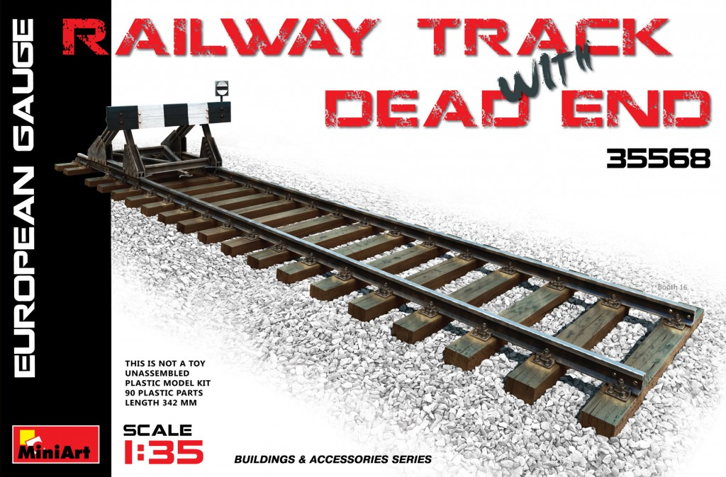 MiniArt Railway Track & Dead End (European Gauge) (1/35)