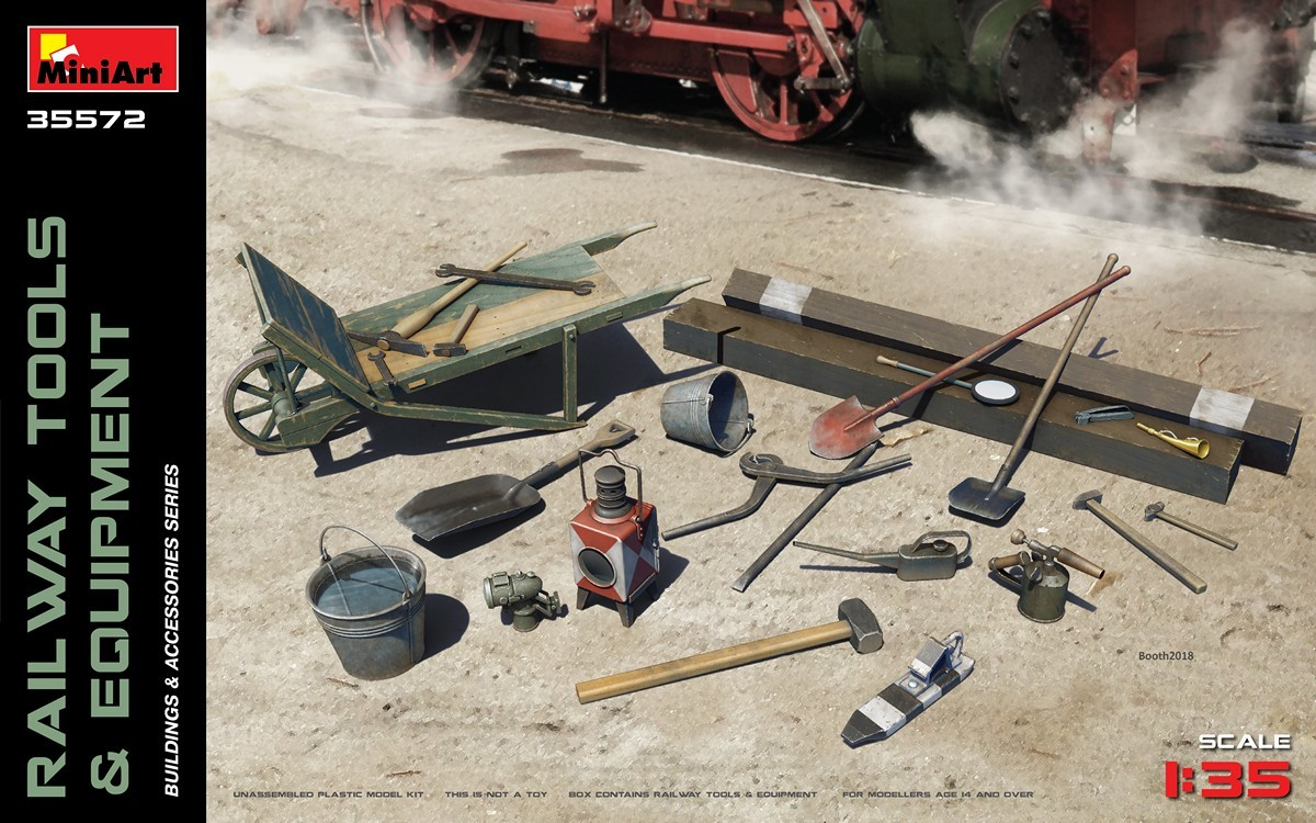 MiniArt Railway Tools & Equipment (1/35)