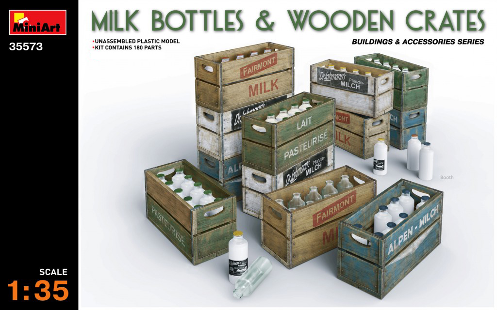 MiniArt Milk Bottles & Wooden Crates (1/35)