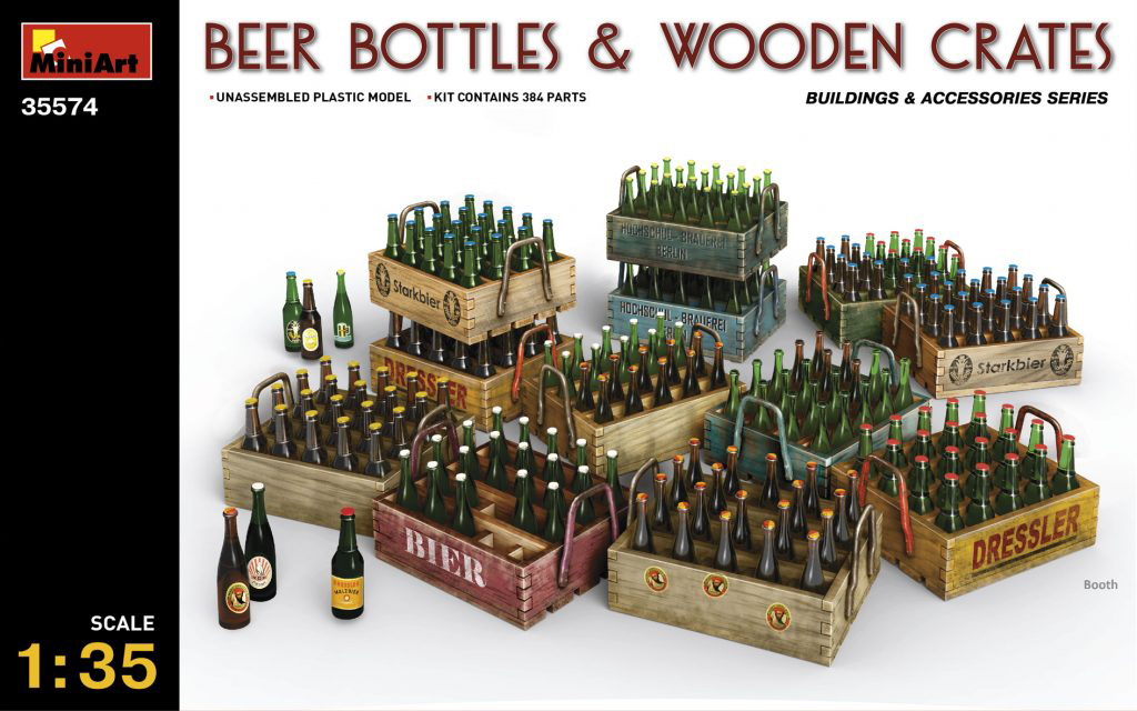 MiniArt Beer Bottles & Wooden Crates (1/35)