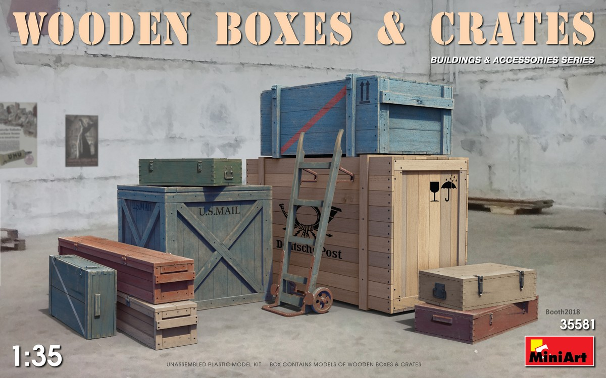 MiniArt Wooden Boxes & Crates (1/35)
