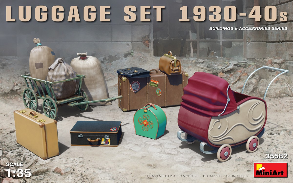 MiniArt Luggage Set 1930-40s (1/35)
