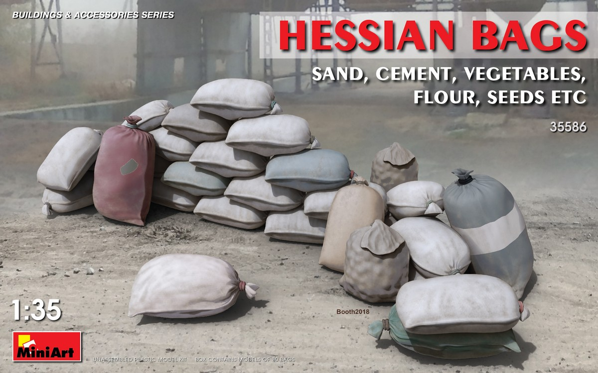 MiniArt Hessian Bags (sand, cement, vegetables, flour, seeds etc) (1/35)