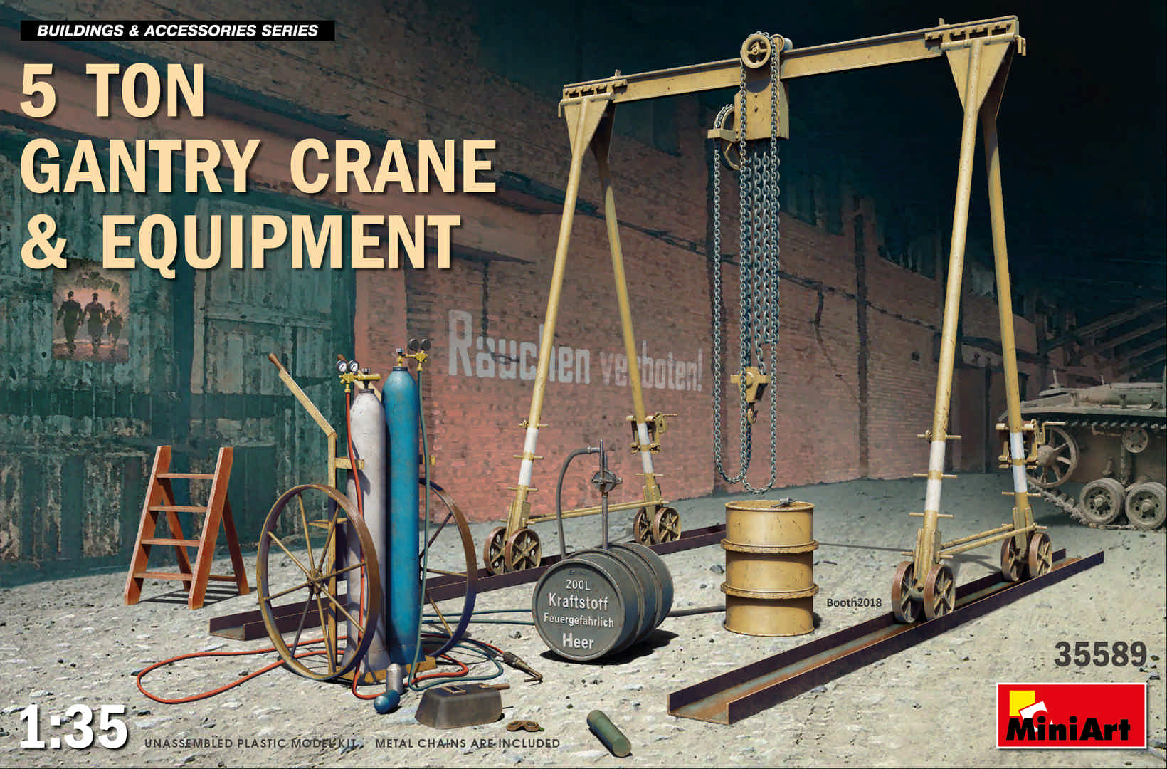 MiniArt 5 Ton Gantry Crane & Equipment