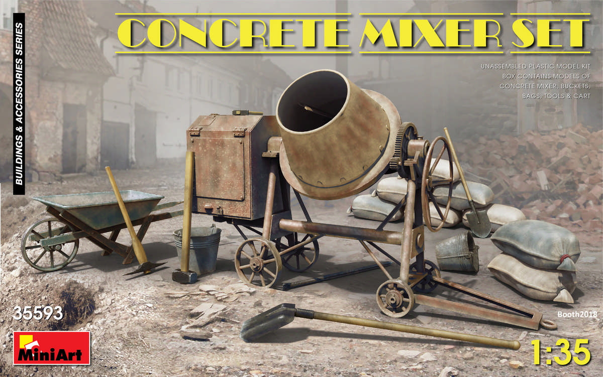MiniArt Concrete Mixer Set (1/35)