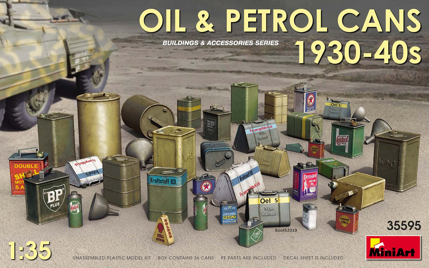 Miniart Oil & Petrol Cans 1930-40s