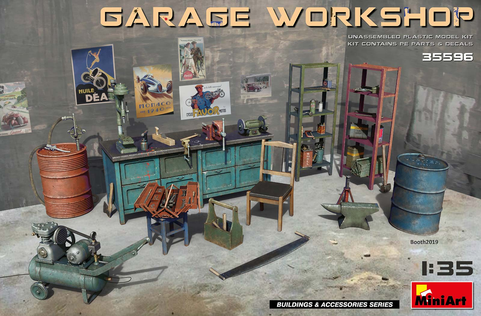 Miniart Garage Workshop (1/35)