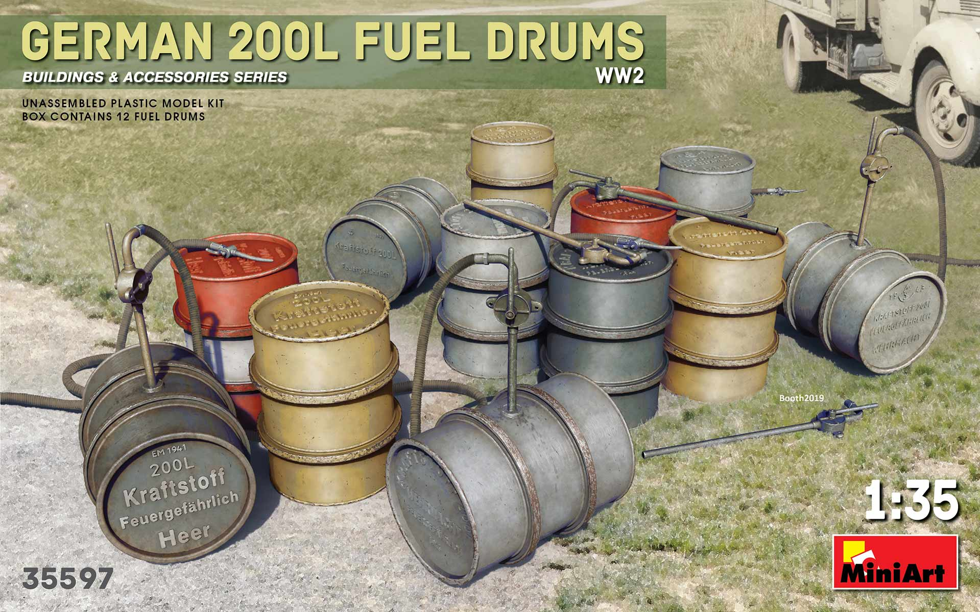 Miniart German 200L Fuel Drum Set WW2 (1/35)