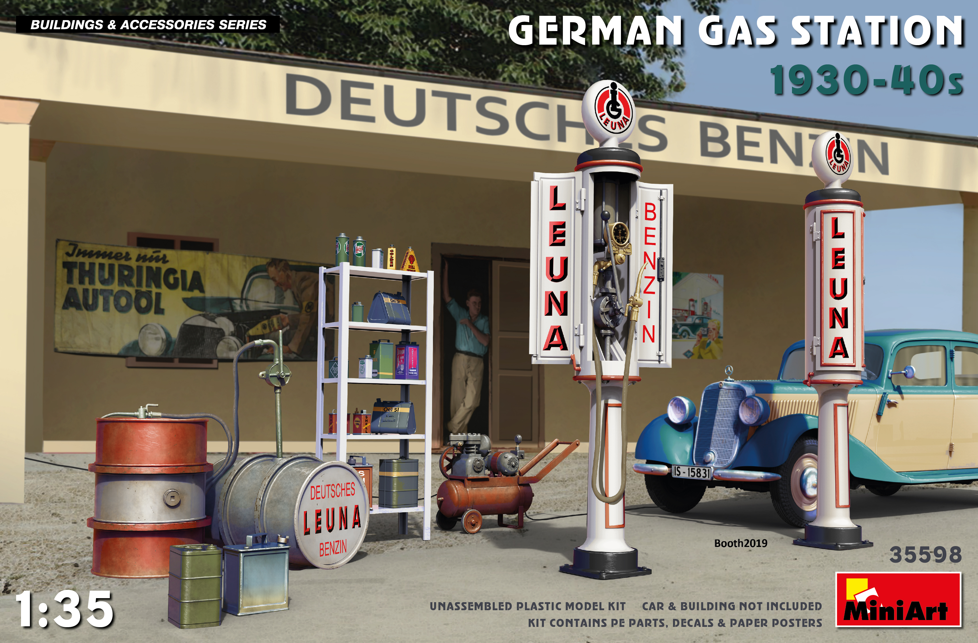 MiniArt German Gas Station 1930-40s