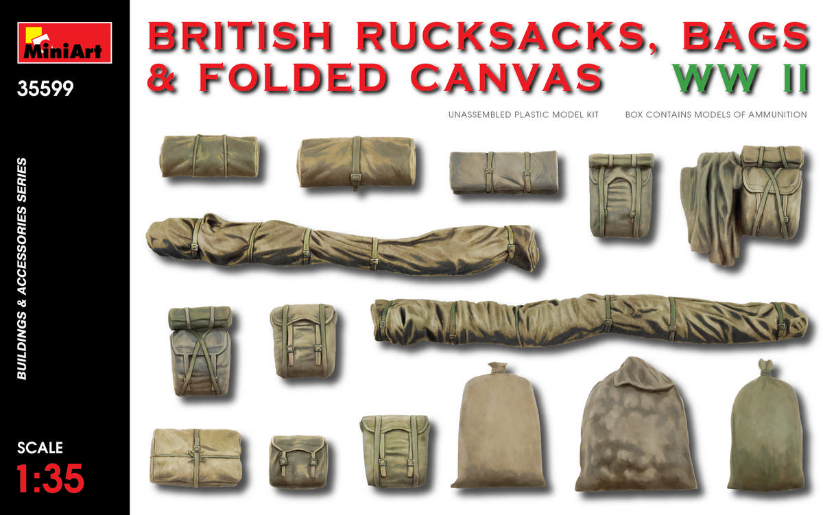 MiniArt British Rucksacks, Bags & Folded Canvas WW2 (1/35)