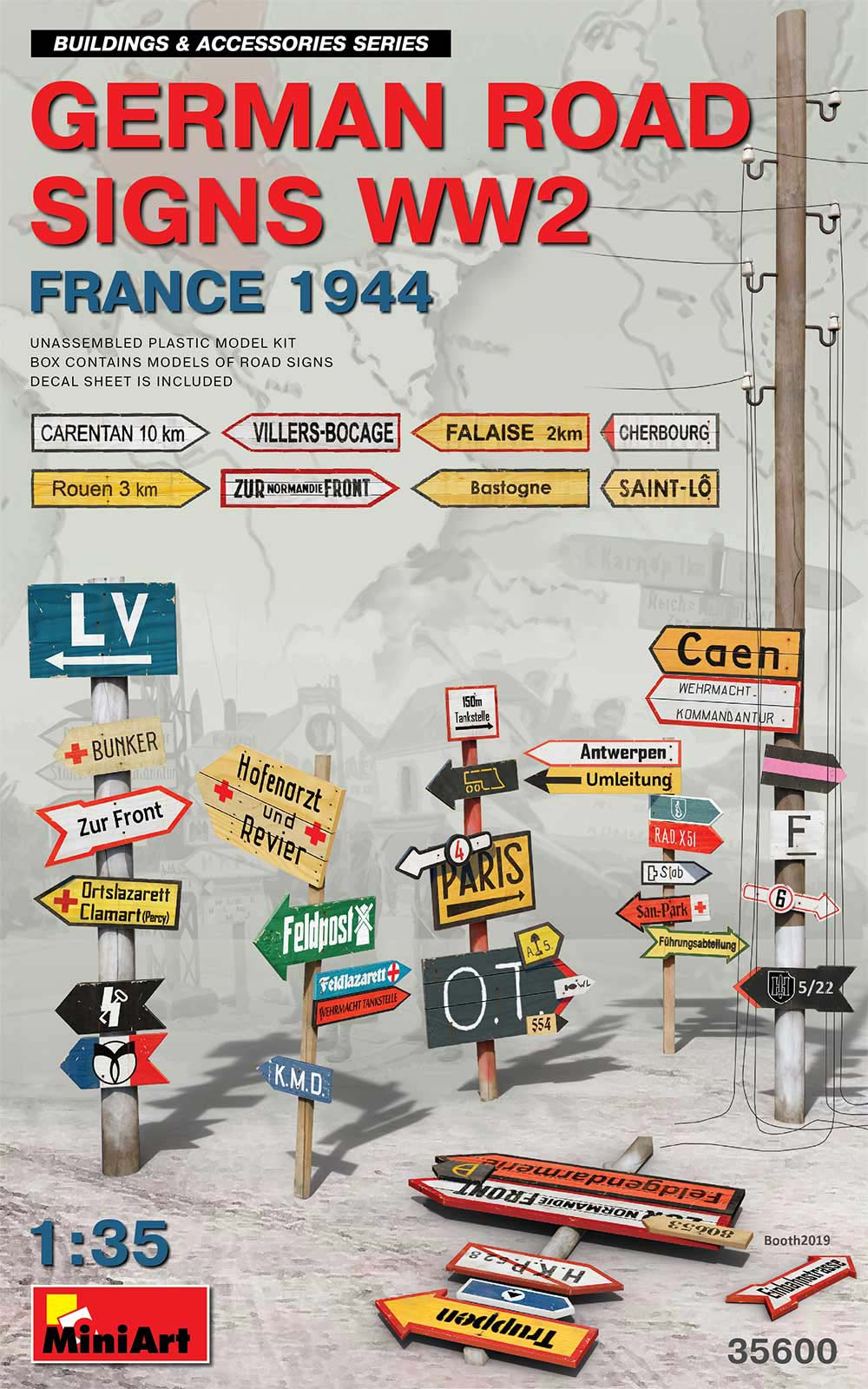 MiniArt German Road Signs WW2 (France 1944)