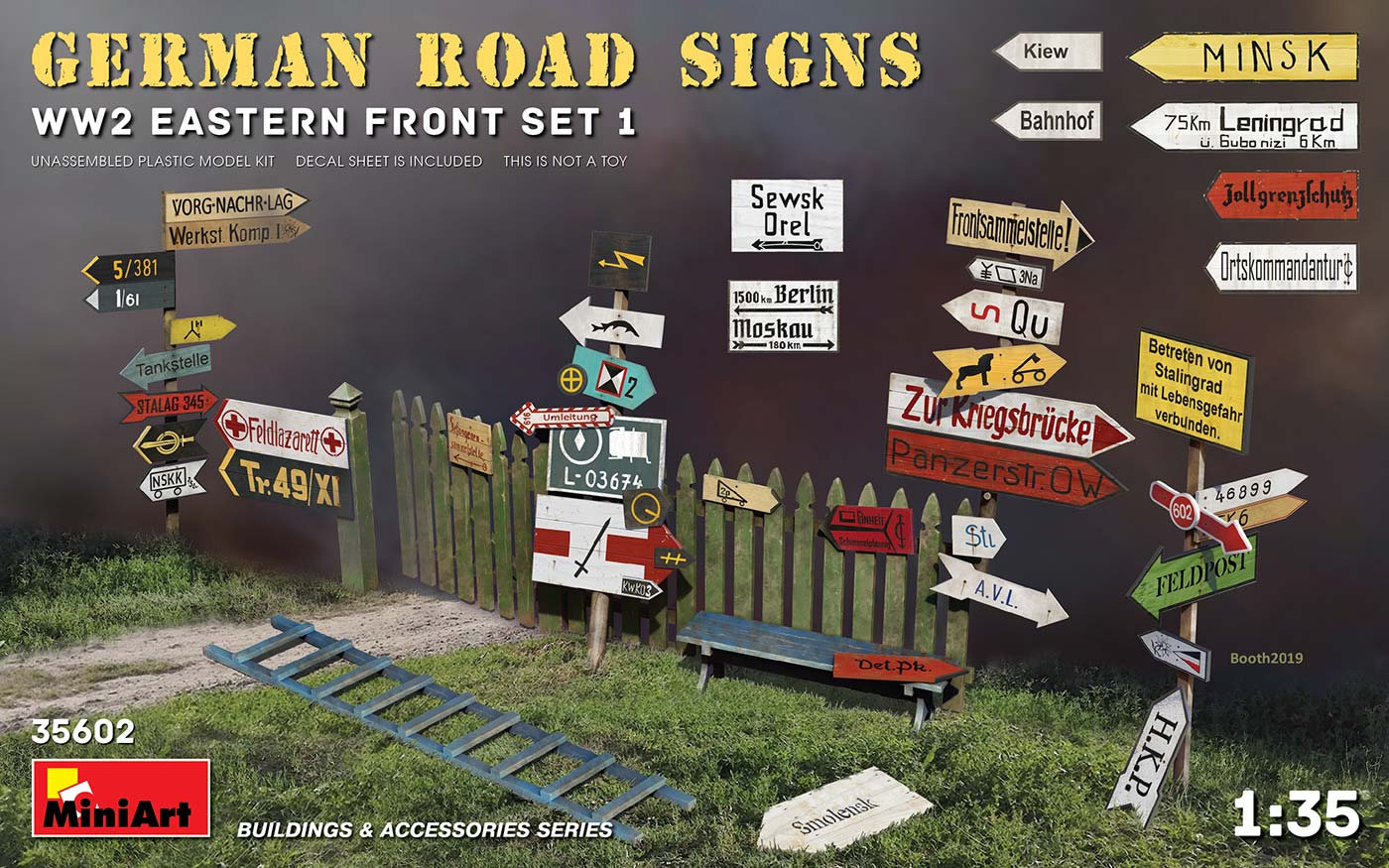 MiniArt German Road Signs WW2 (Eastern Front Set 1)