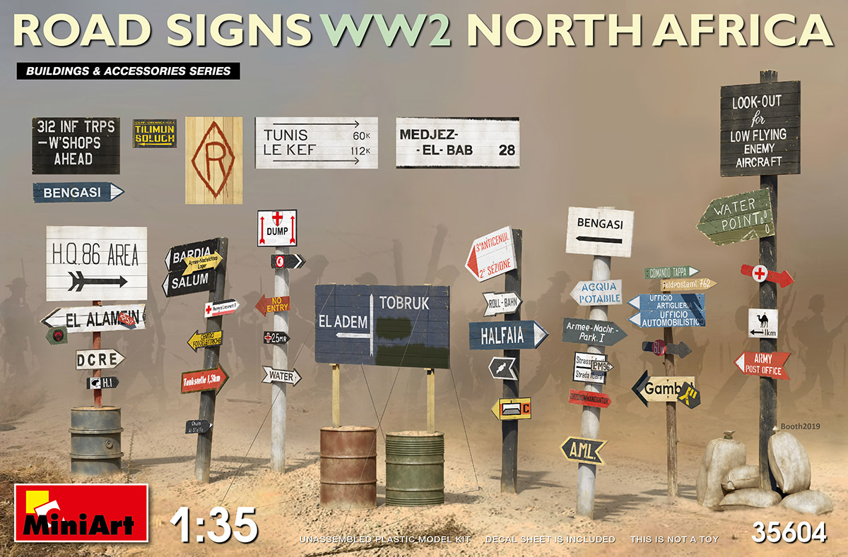 MiniArt Road Signs WW2 (N.Africa)