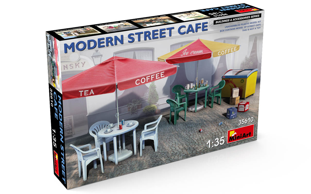 MiniArt Modern Street Cafe