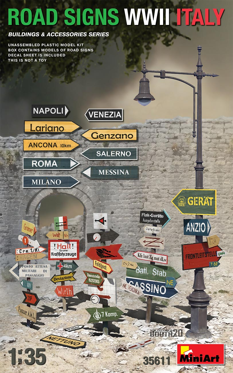 MiniArt ROAD SIGNS WWII ITALY