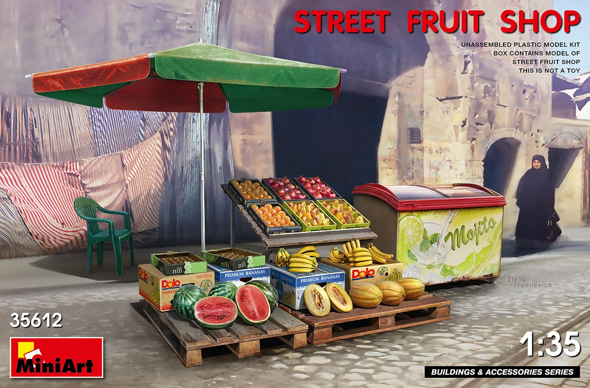 MiniArt 1/35 Street Fruit Shop
