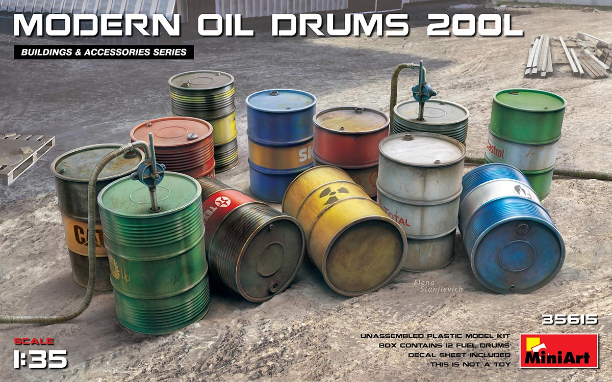 MiniArt Modern Oil Drums (2001)