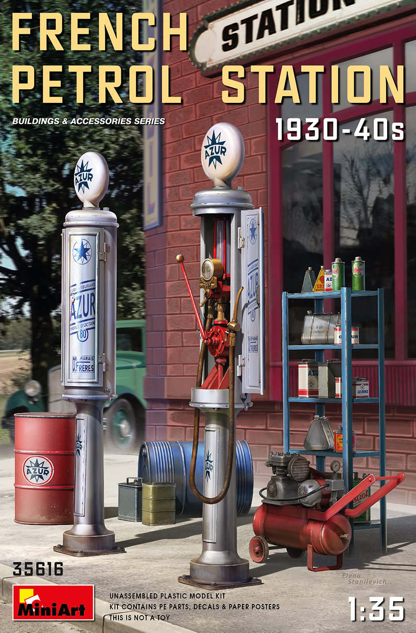MiniArt French Petrol Station 1930-40S