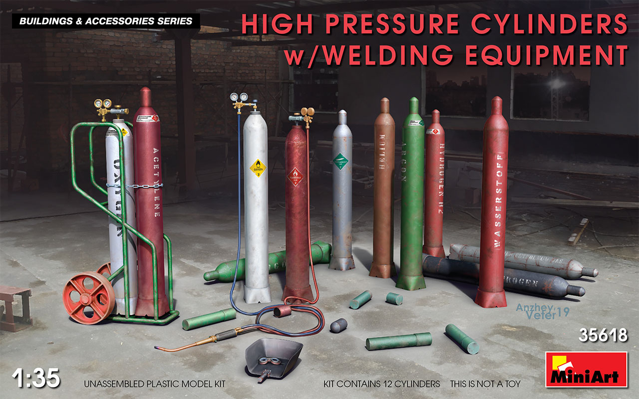 MiniArt High Pressure Cylinders w/ Welding Equipment