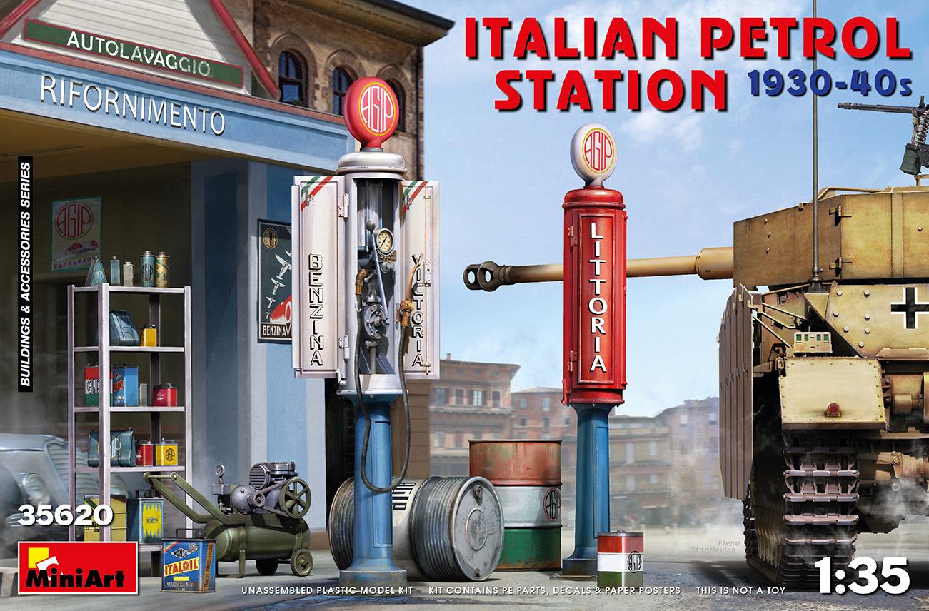 MiniArt 1/35 Italian Petrol Station 1930-40s