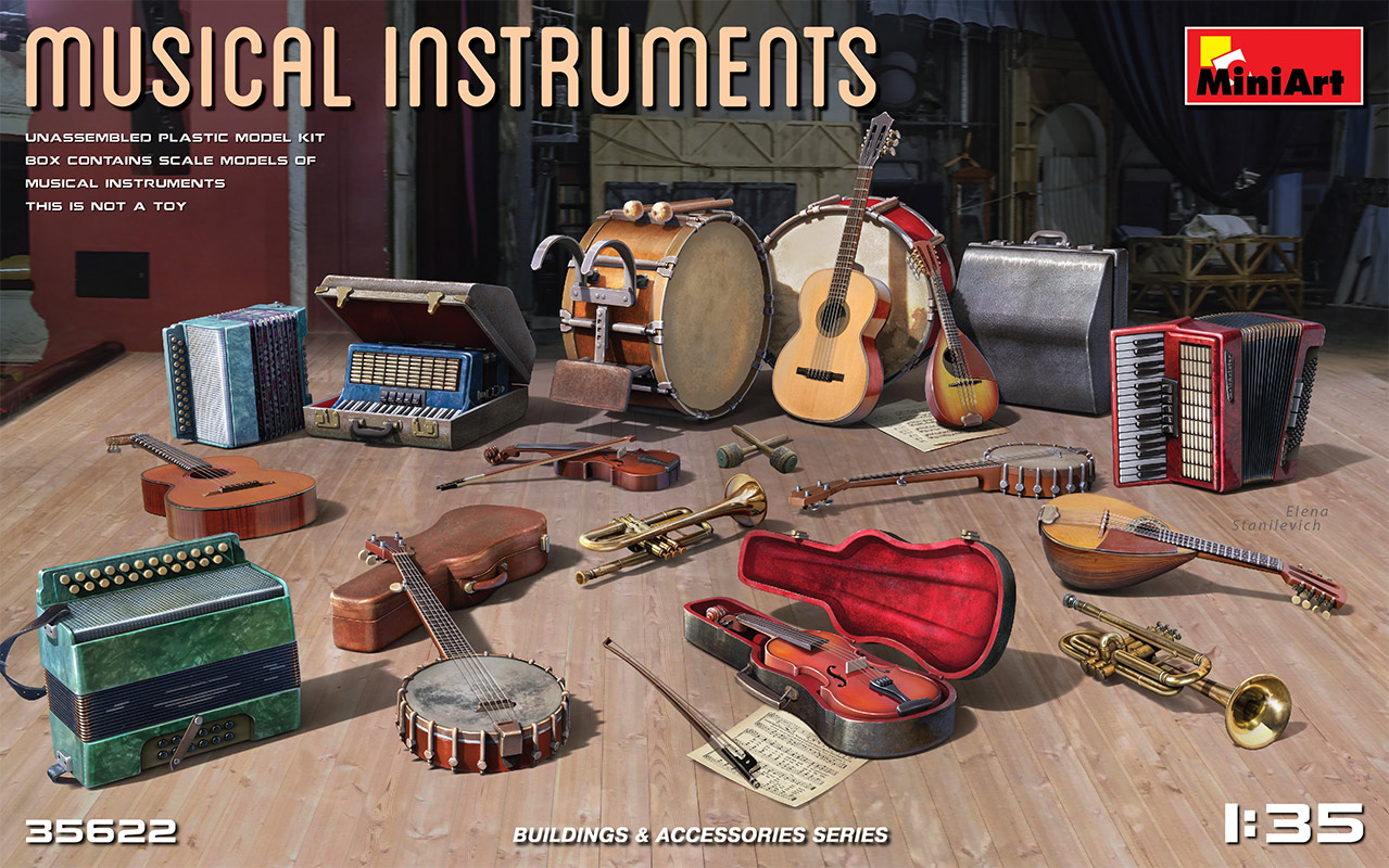 MiniArt Musical Instruments 1/35 Scale