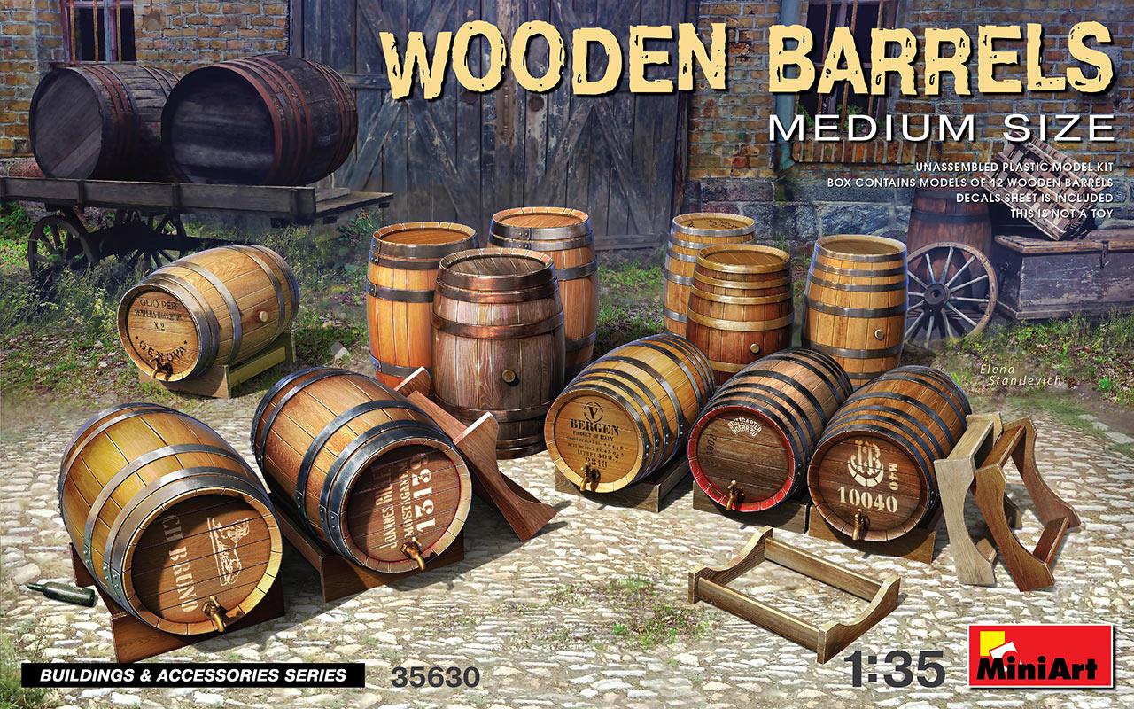 MiniArt 1/35 Wooden Barrels Medium Size