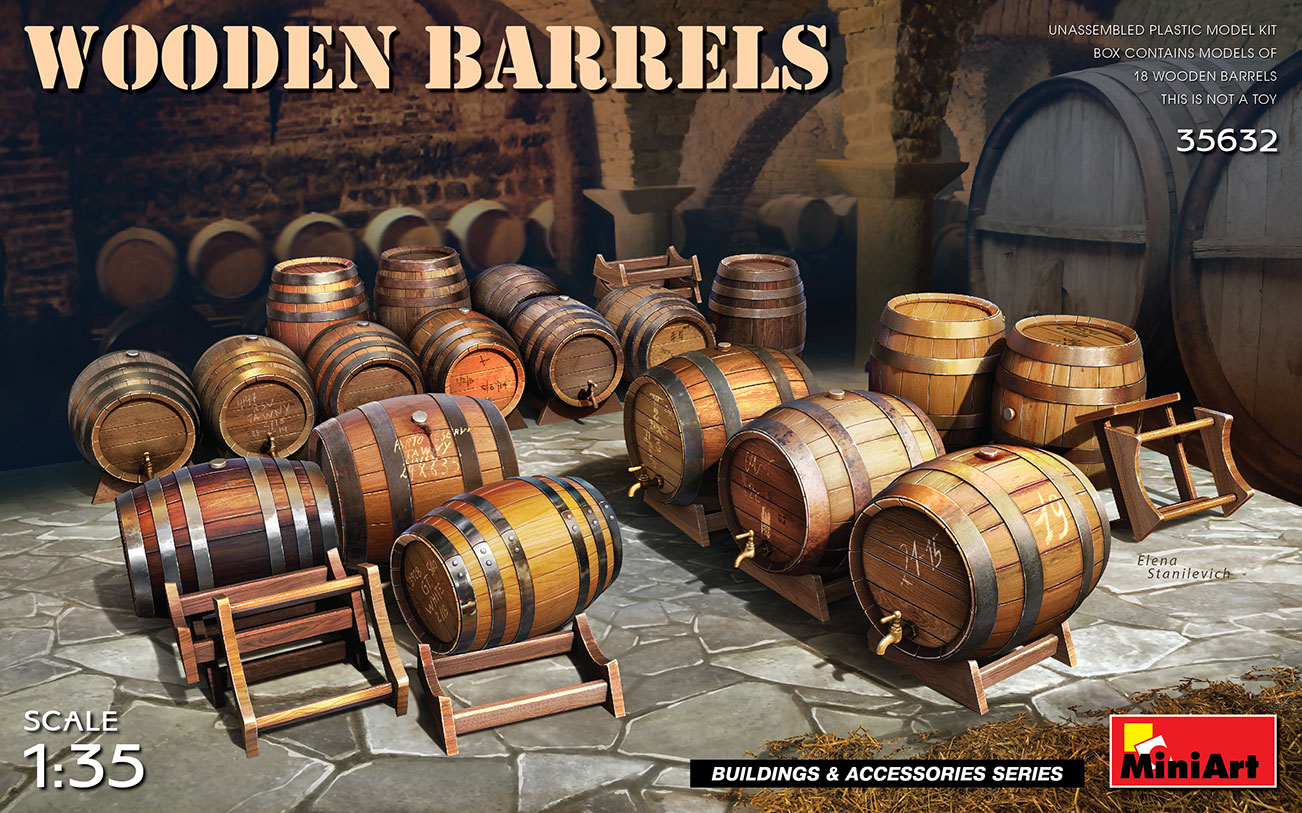 MiniArt 1/35 Wooden Barrels