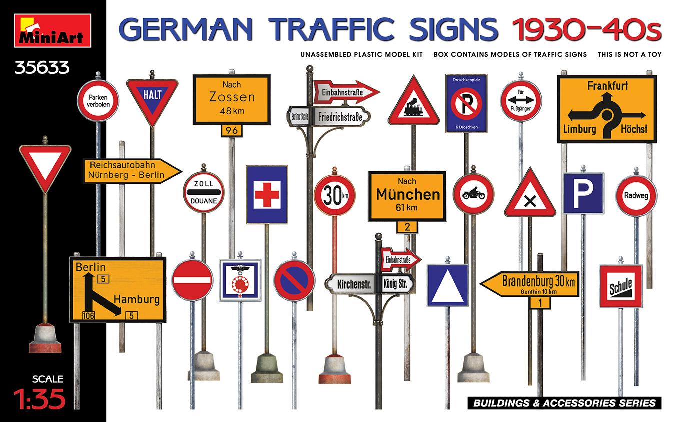 MiniArt 1/35 German Traffic Signs 1930-40's