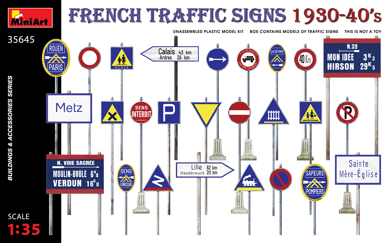 MiniArt 1/35 French Traffic Signs 1930-40's