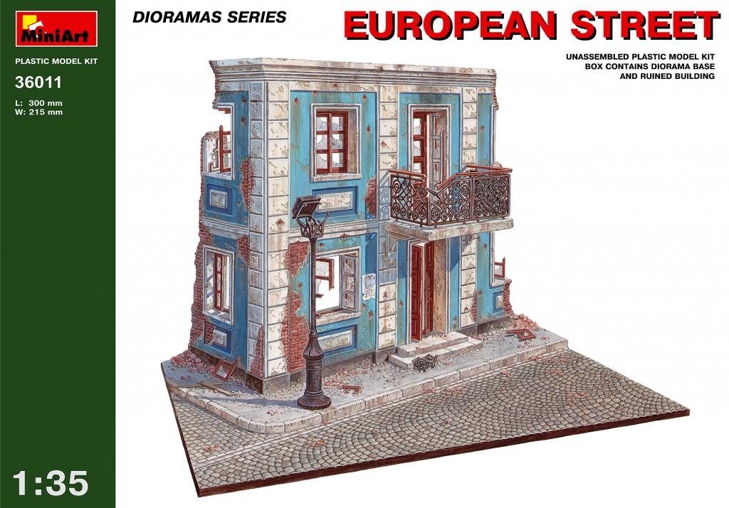 MiniArt European street. (1/35)