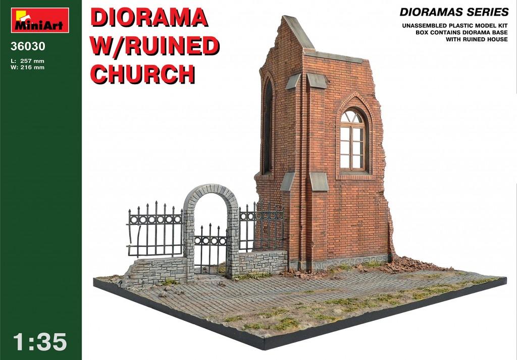 MiniArt Diorama w/Ruined Church (1/35)