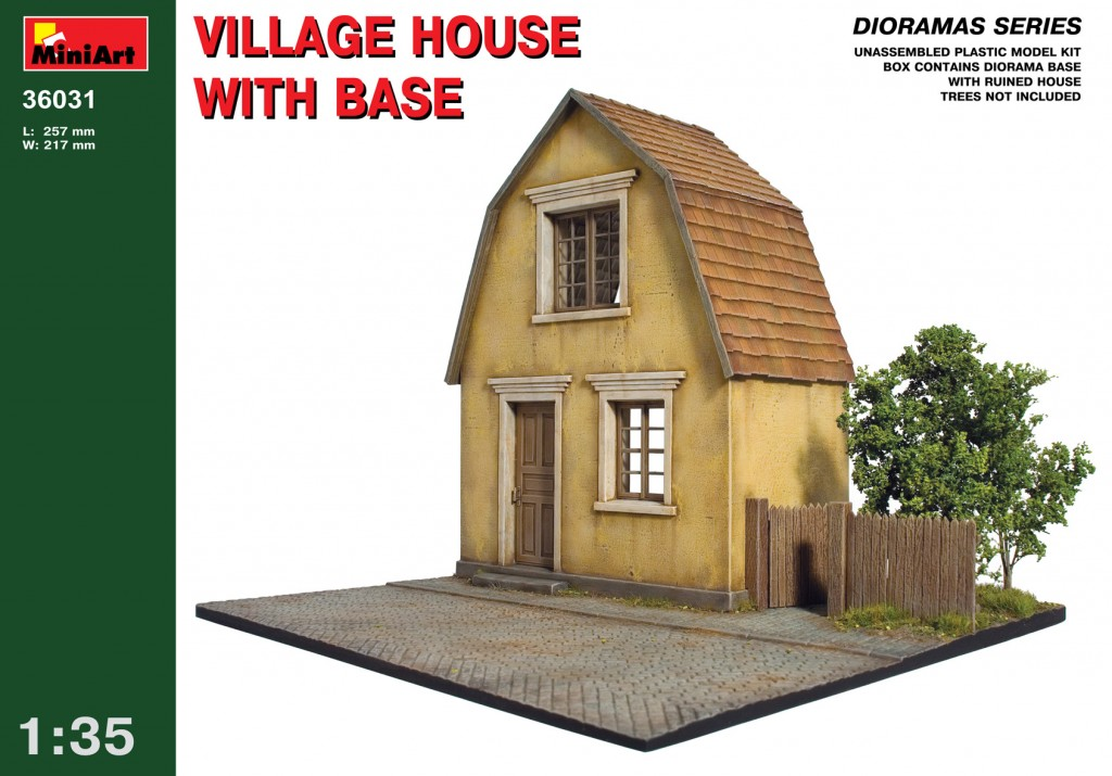 MiniArt Village House with Base (1/35)