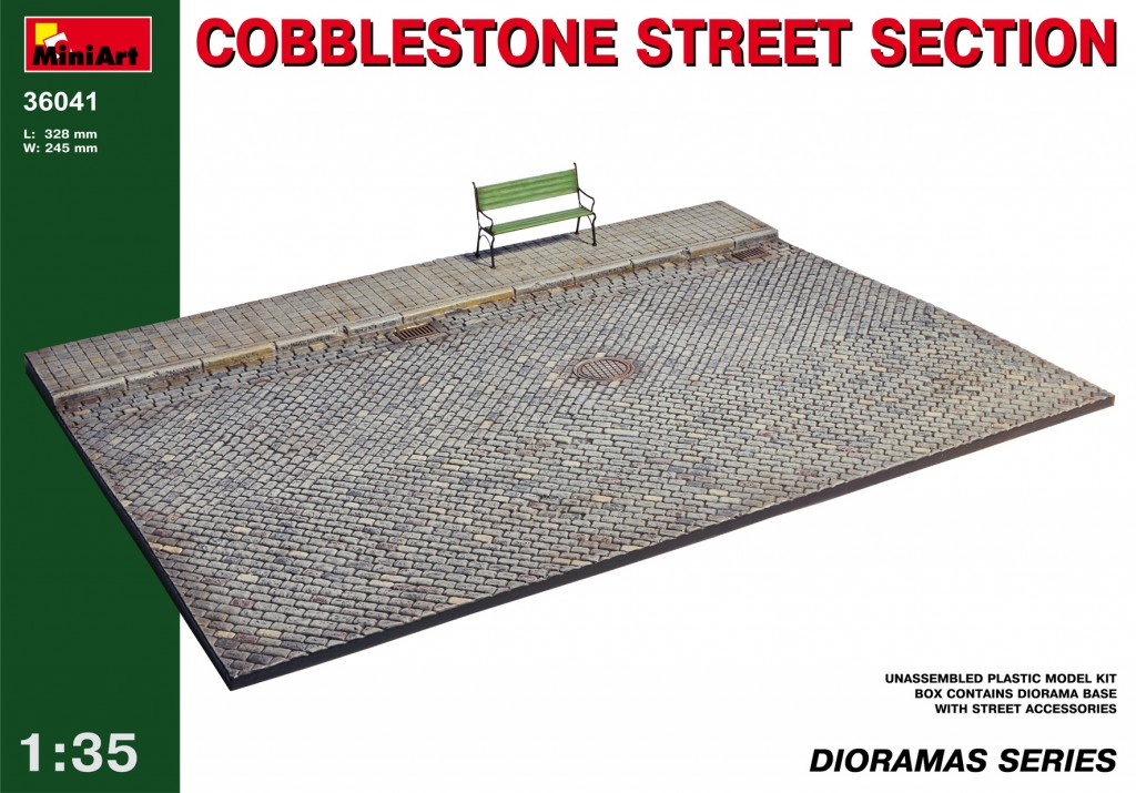 MiniArt Cobblestone Street Section (1/35)