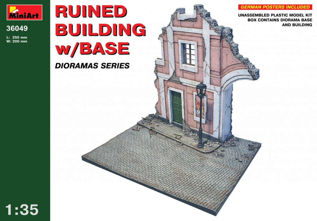 MiniArt Ruined Building w/Base (1/35)