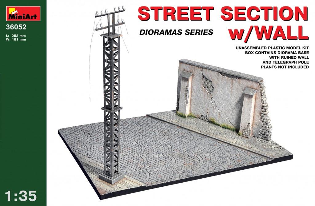 MiniArt Street section w/Wall (1/35)