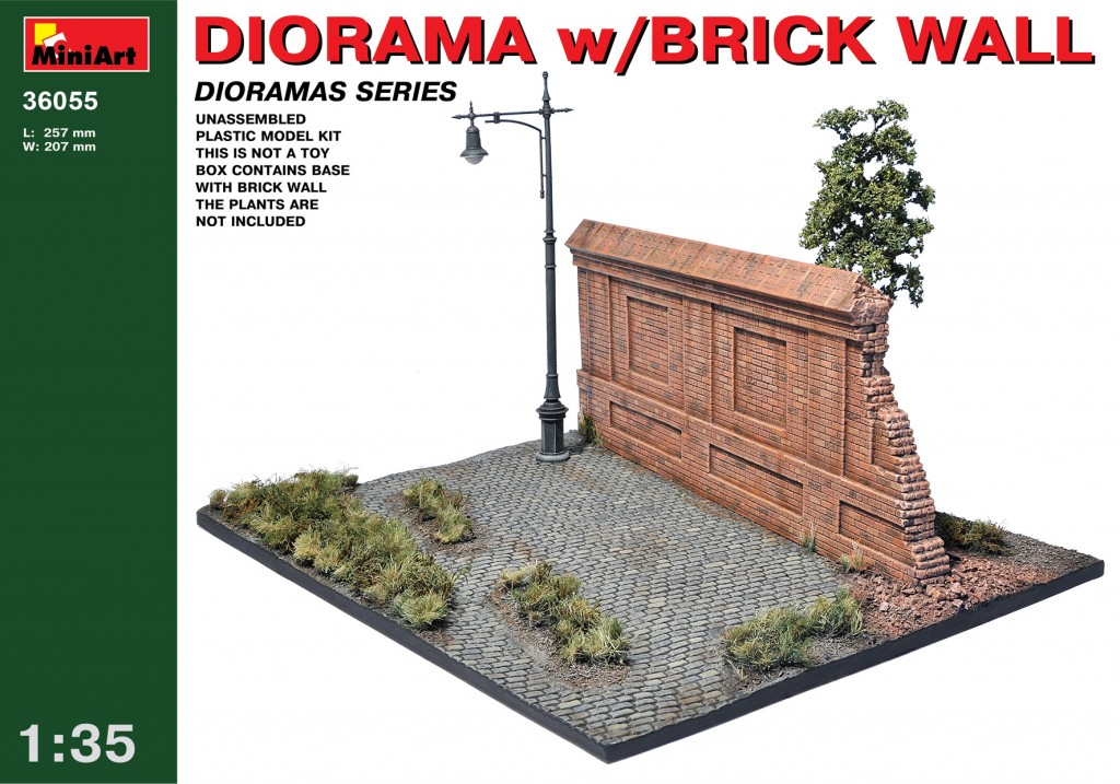 MiniArt Diorama with Brick Wall